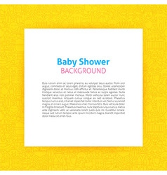 Paper template over baby shower line art vector