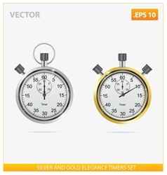 Silver and gold elegance timers vector