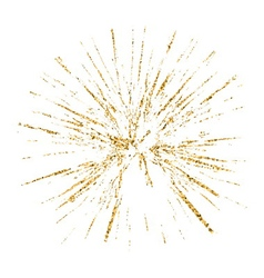 Broken glass hole grunge texture gold white sketch vector