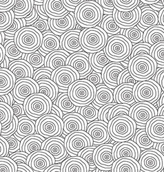 Abstract monochrome circles seamless pattern vector