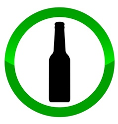 Alcohol sign vector image