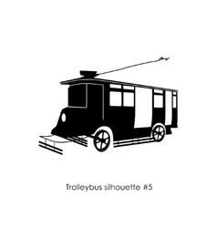 Black silhouette of trolley bus vector image vector image