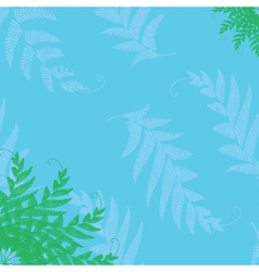 branches and leaves corner vector image