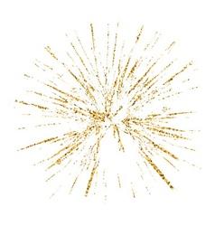 Broken glass hole grunge texture gold white sketch vector
