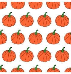 Cartoon pumpkin pattern vector