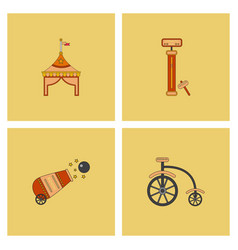 Circus stuff icons vector