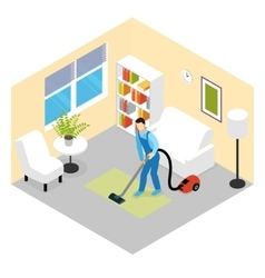 Cleaning Service Isometric Scene vector image vector image