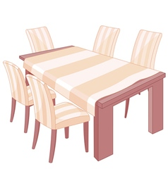 Dining Table vector image