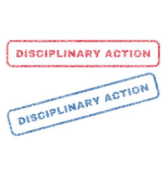 disciplinary action textile stamps vector image vector image