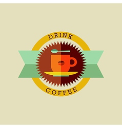 Drink coffee badge set vector image