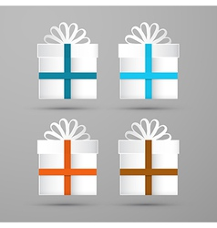 Gift Boxes Made From Paper vector image vector image