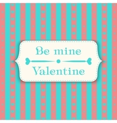 Happy valentines day design template pattern vector image