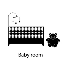 Home and hotel baby room interior with furniture vector