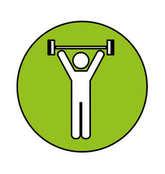 human figure weight lifting vector image vector image