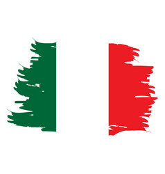 isolated italian flag vector image
