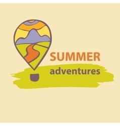 Logo travel company summer adventures vector
