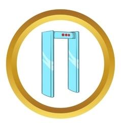 Metal detector icon vector