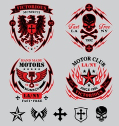 motorcycle emblems vector image