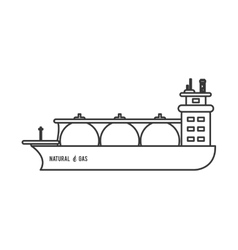 Natural gas ship icon vector