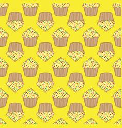 orange lemon cream cake seamless pattern vector image