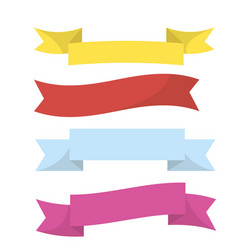 realistic colorful ribbons isolated on white vector image vector image