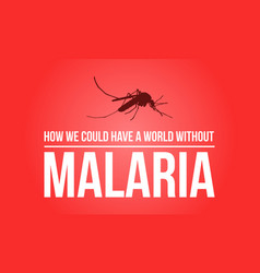 Red background for world malaria day vector