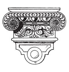 Renaissance console pairs vintage engraving vector
