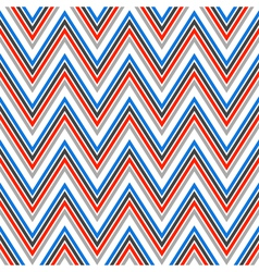 Seamless chevron pattern in retro style vector image vector image