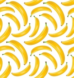 Seamless Stylish Pattern with Ripe Bananas Fruit vector image vector image