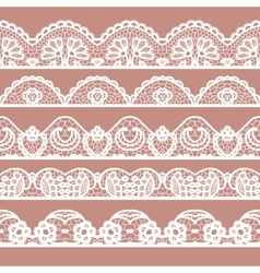 Set of beautiful lace trims vector image