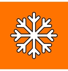 snowflake icon Eps10 vector image