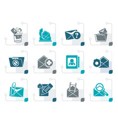 Stylized e-mail and message icons vector