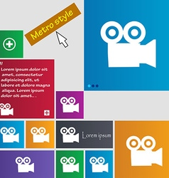 video camera icon sign buttons Modern interface vector image vector image