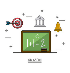 White background poster of education with vector