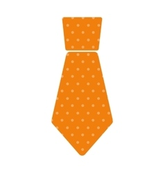 Yellow necktie man celebration father day dotted vector