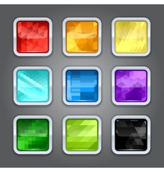 Set of backgrounds with metal border for the app vector