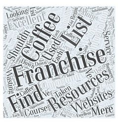 How to find a coffee franchise opportunity word vector