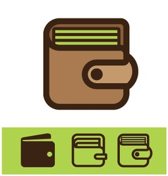 Set of wallet icon vector