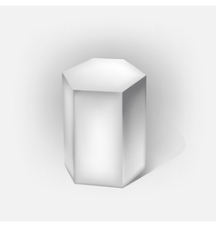 hexagonal prism vector image