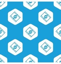 3D movie hexagon pattern vector image