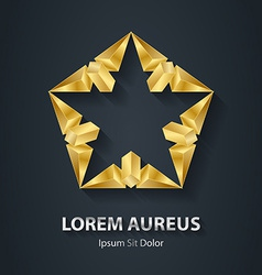 Modern stylish 3d gold logo golden design element vector
