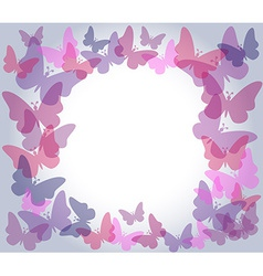 Transparent butterflies frame vector