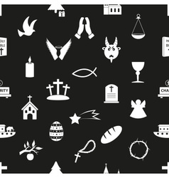 Christianity religion symbols black and white vector