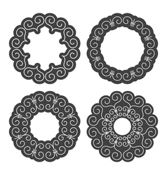 Set of ethnic circle elements vector