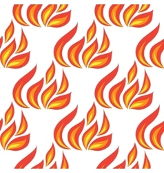 Fire seamless isolated vector