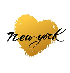 New york love text vector