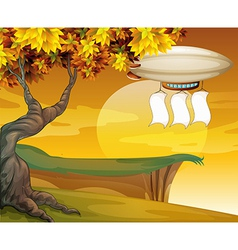 An airship with empty banners vector image vector image