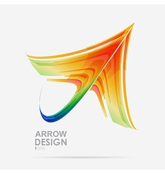 Arrow colored design vector