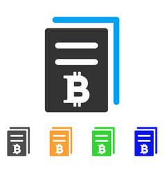 Bitcoin price copy icon vector