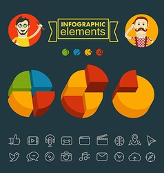 Business infographic elements clip-art vector image